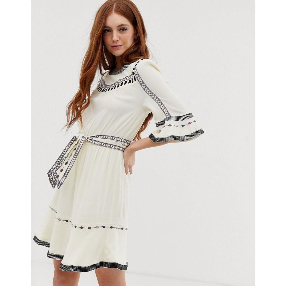 バッシュ BA&SH レディース ワンピース・ドレス ワンピース【Plaza embroidered mini dress】Off white
