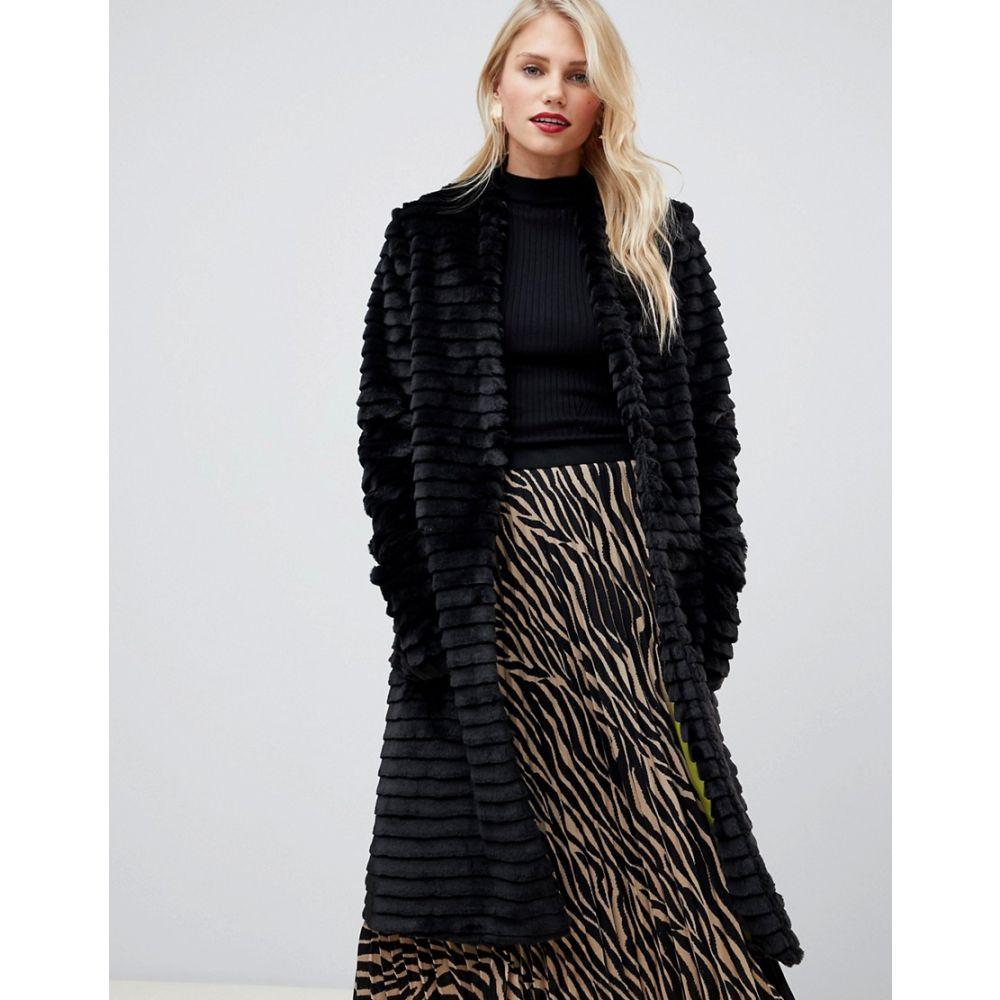 ヘレン バーマン Helene Berman レディース アウター コート【Suki faux fur collarless coat】Black