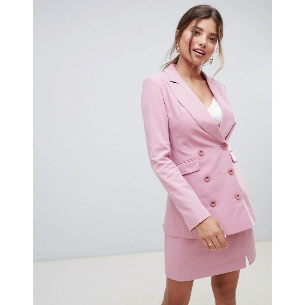 ミリー マッキントッシュ Millie Mackintosh レディース アウター スーツ・ジャケット【90's double breasted co-ord blazer】Peony pink