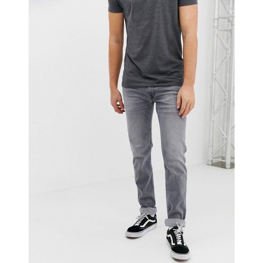 リプレイ Replay メンズ ボトムス・パンツ ジーンズ・デニム【Anbass eco laser blast super stretch slim jeans in grey】Grey