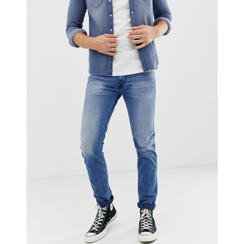 リプレイ Replay メンズ ボトムス・パンツ ジーンズ・デニム【Anbass slim eco laser blast jeans in light wash】Light blue
