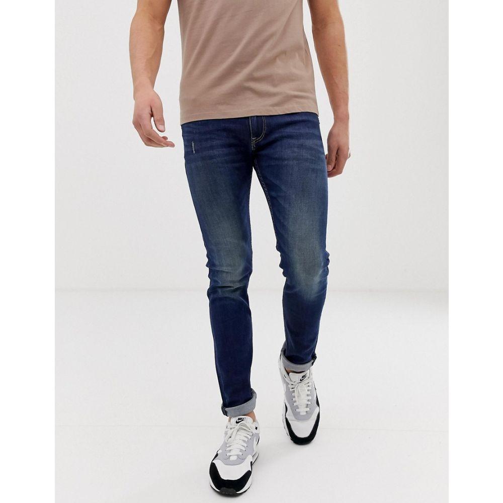 リプレイ Replay メンズ ボトムス・パンツ ジーンズ・デニム【Jondrill Skinny Power Stretch Jeans】Navy