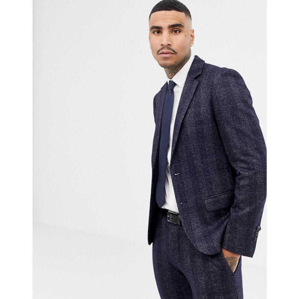 アントニー モラート Antony Morato メンズ アウター スーツ・ジャケット【slim fit suit jacket in navy check】Night blue