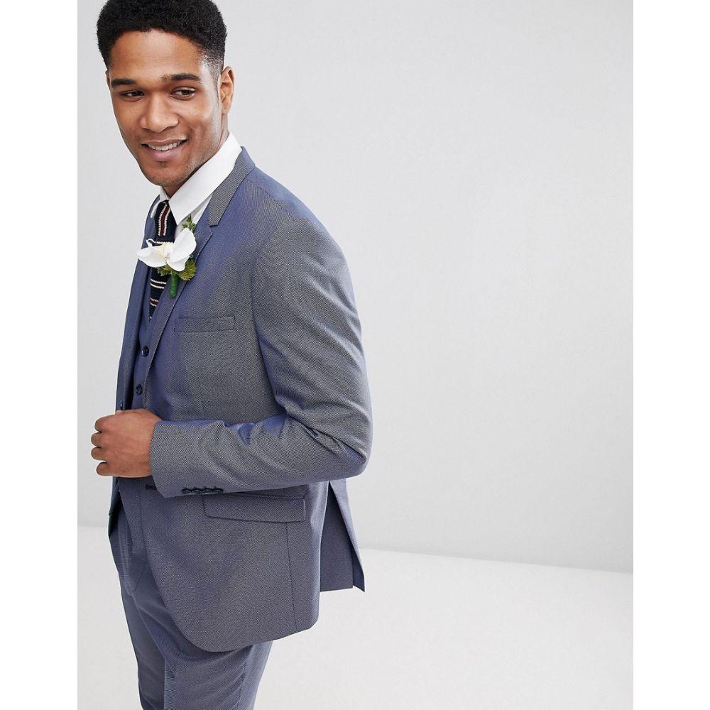 セレクテッド オム Selected Homme メンズ アウター スーツ・ジャケット【slim fit suit jacket textured】Medium blue melange