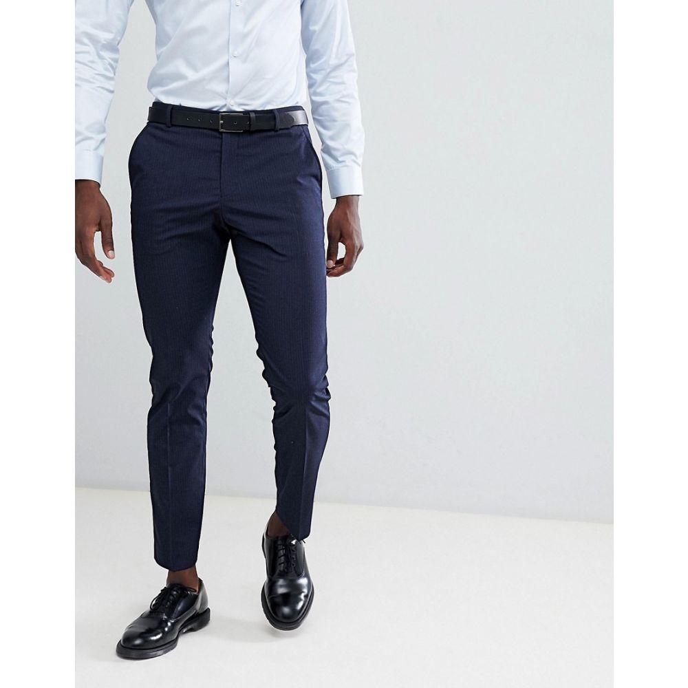 セレクテッド オム Selected Homme メンズ ボトムス・パンツ スラックス【Slim Fit Suit Trouser In Navy Pinstripe】Navy blazer