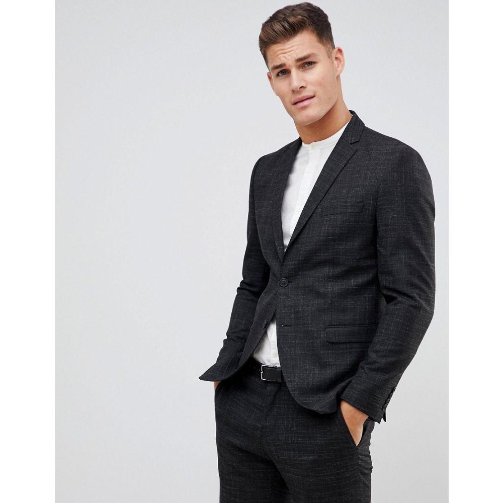 セレクテッド オム Selected Homme メンズ アウター スーツ・ジャケット【Black Fleck Suit Jacket In Slim Fit】Black