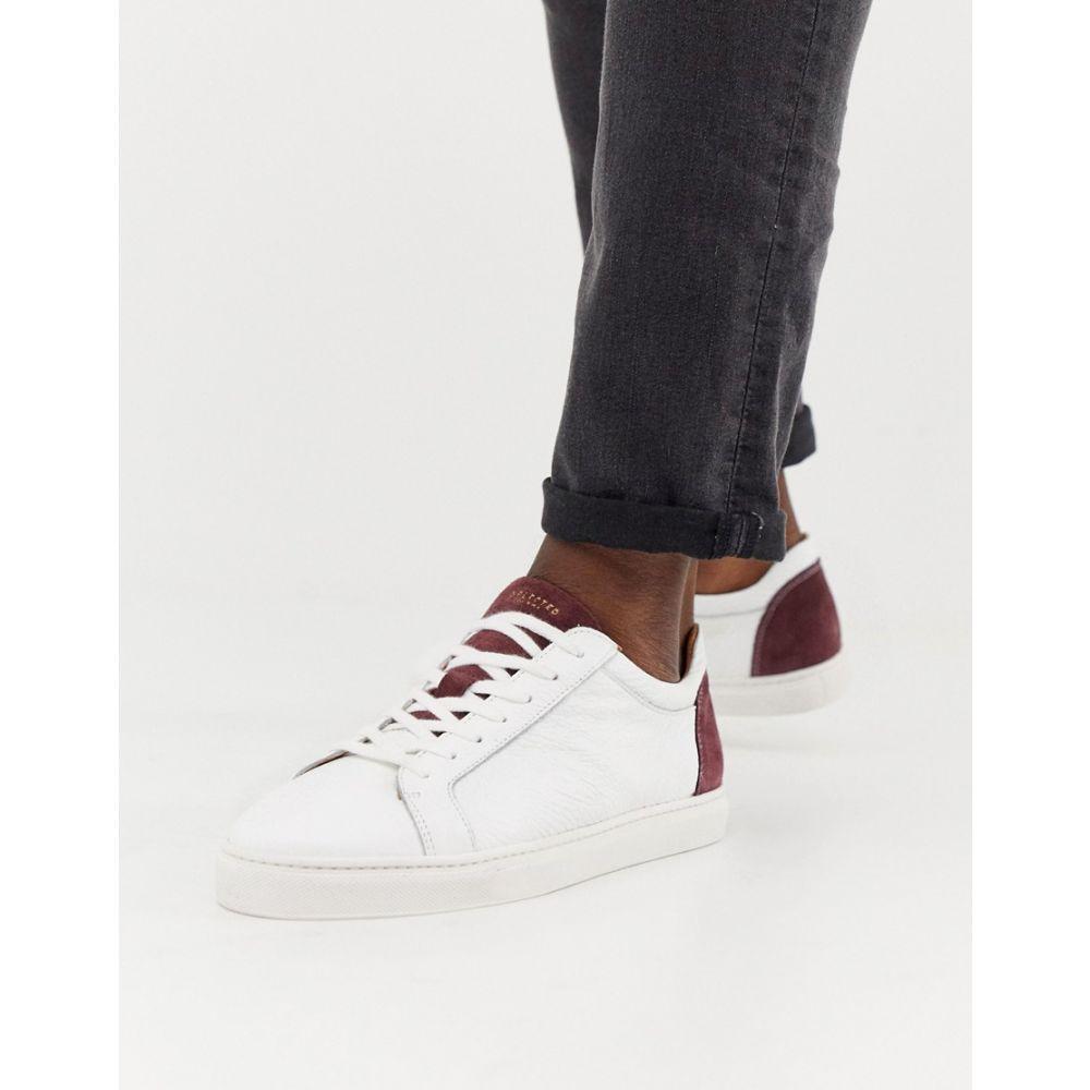 セレクテッド オム Selected Homme メンズ シューズ・靴 スニーカー【premium trainers with suede heel】White