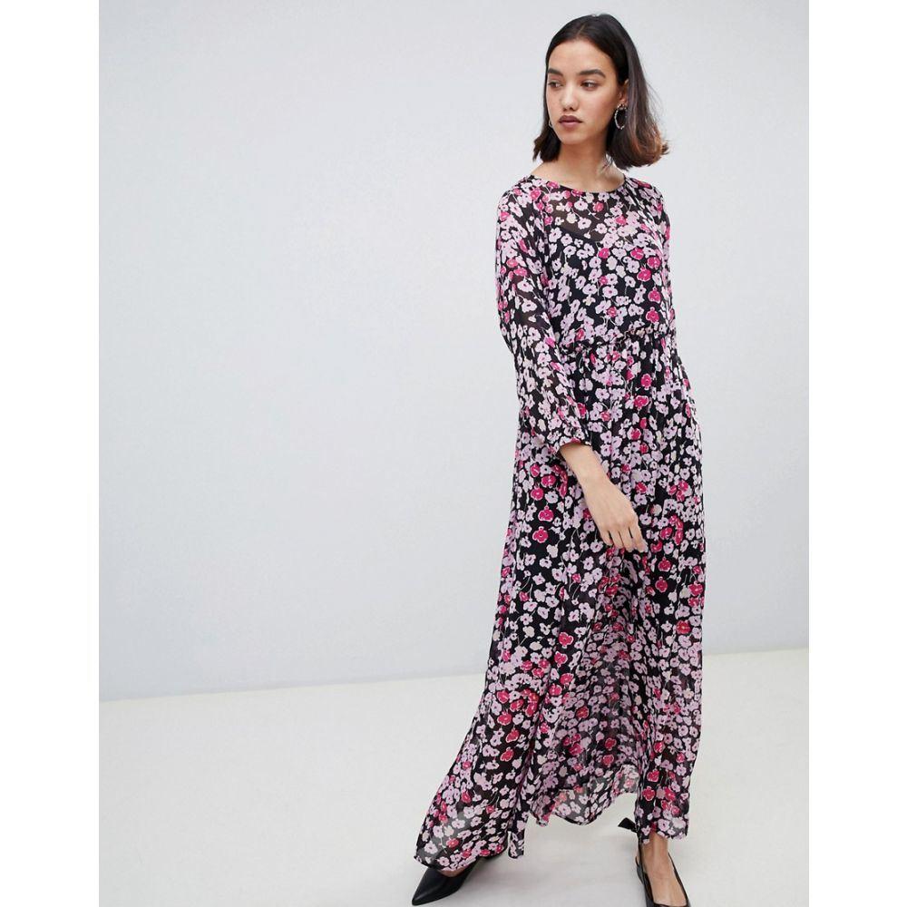 セレクテッド オム Selected レディース ワンピース・ドレス ワンピース【Femme floral print maxi dress】Multi