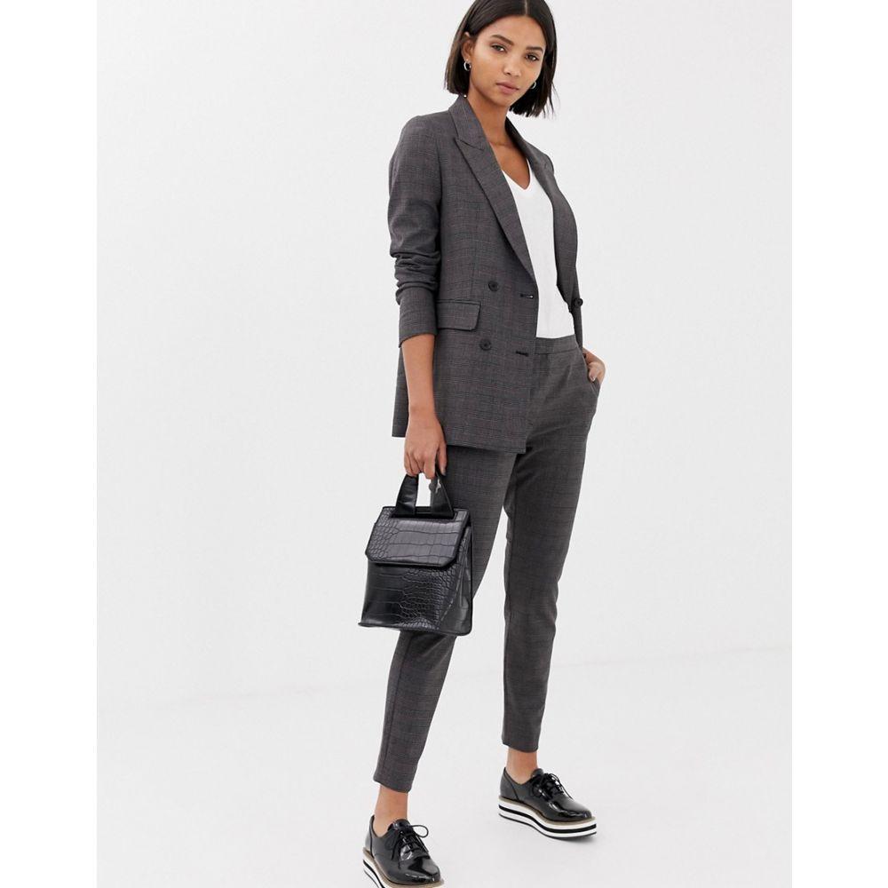 セレクテッド オム Selected レディース ボトムス・パンツ クロップド【Femme Cropped Tailored Trouser】Dark grey w check