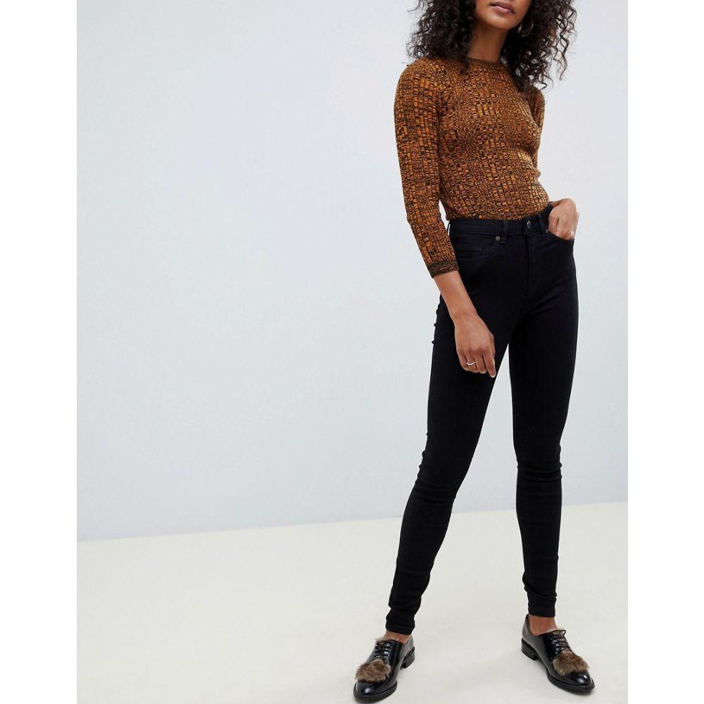 セレクテッド オム Selected レディース ボトムス・パンツ ジーンズ・デニム【Femme skinny jean in black】Black denim