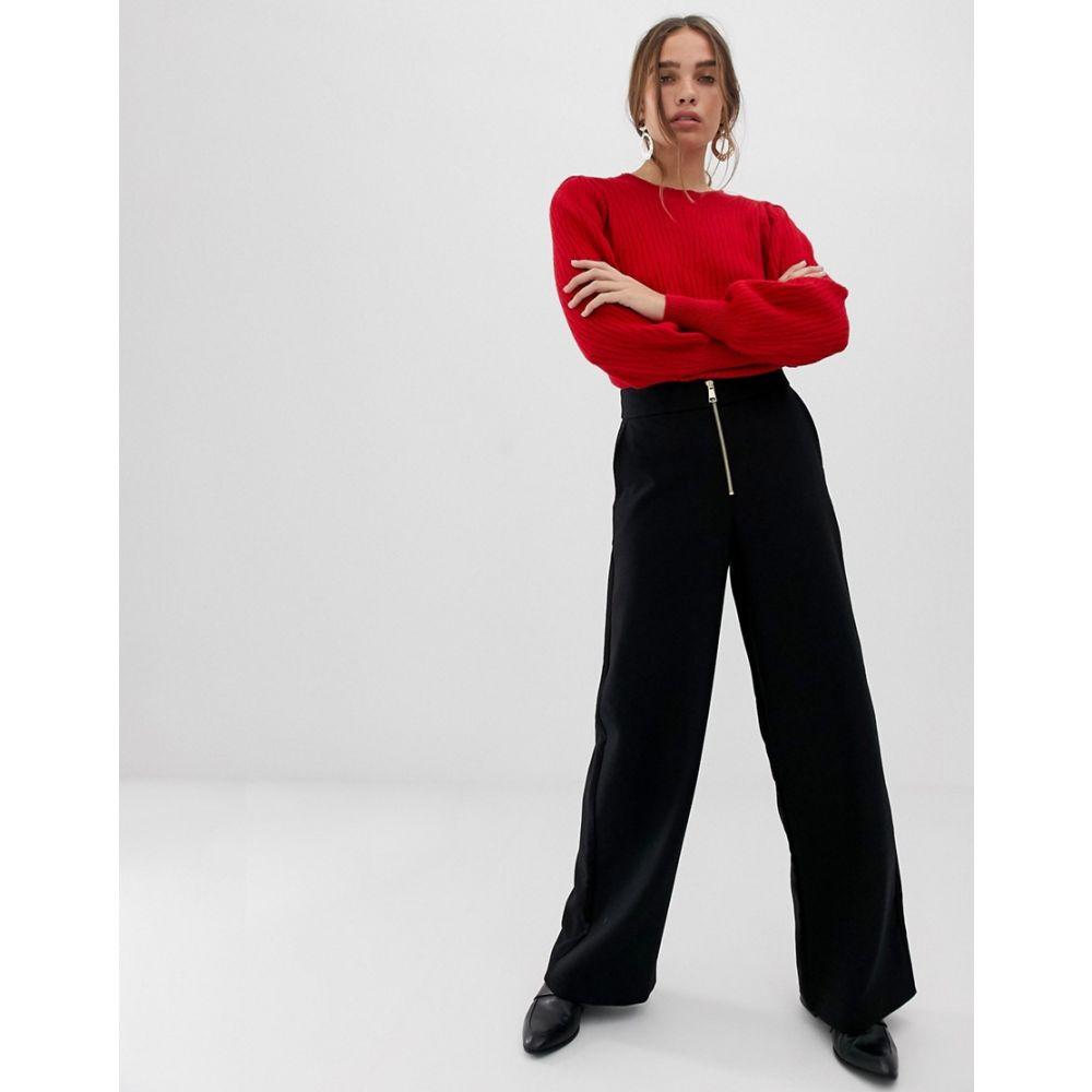 セレクテッド オム Selected レディース ボトムス・パンツ【high waist wide leg trouser】Black