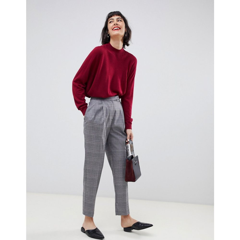 セレクテッド オム Selected レディース ボトムス・パンツ【Manny check tailored trousers】Grey check