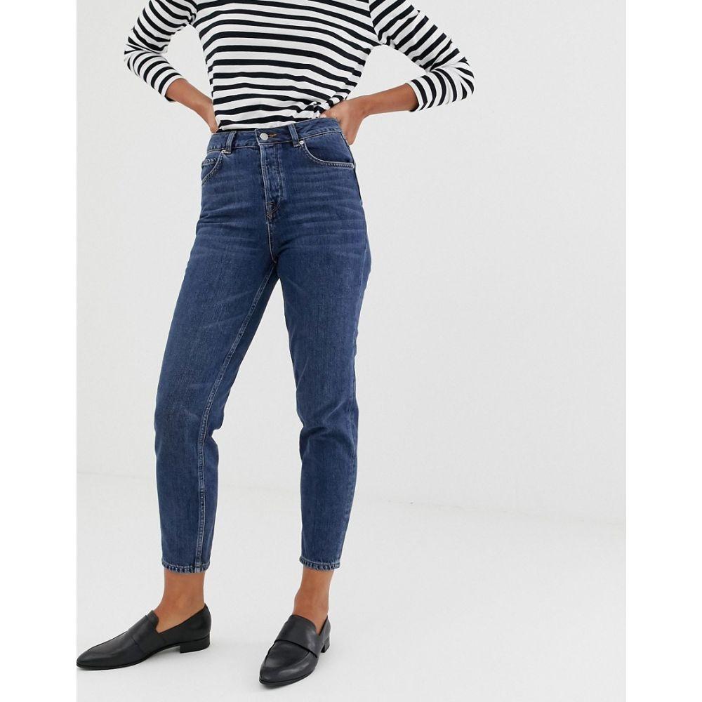 セレクテッド オム Selected レディース ボトムス・パンツ ジーンズ・デニム【Femme mom jeans】Dark blue denim