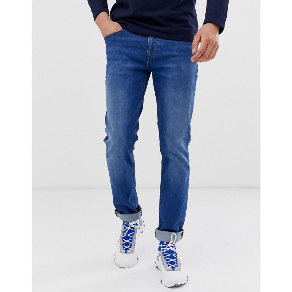 ヒューゴ ボス BOSS メンズ ボトムス・パンツ ジーンズ・デニム【Delaware slim fit jeans in mid wash blue】Blue