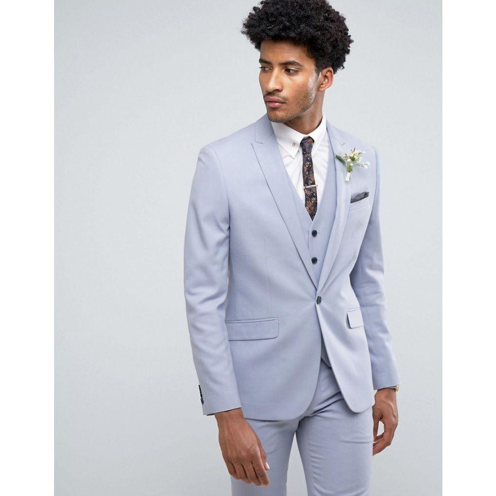 ファーラー メンズ アウター ジャケット【Farah Skinny Wedding Suit Jacket in Blue】Blue