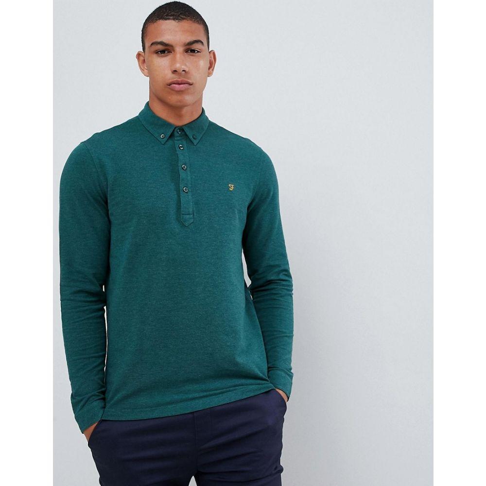 ファーラー Farah メンズ トップス ポロシャツ【Merriweather long sleeve polo in green】Green