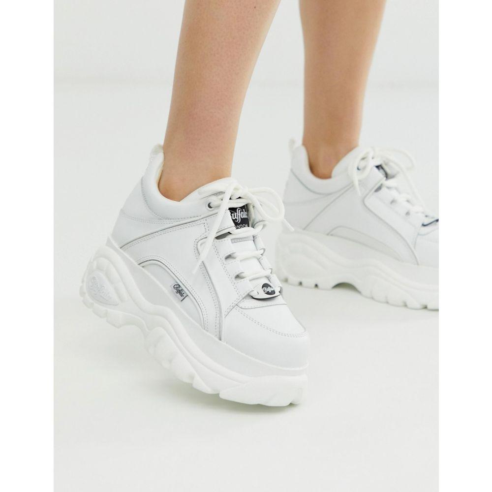 バッファロー Buffalo レディース シューズ・靴 スニーカー【London classic lowtop platform chunky trainers in white】White