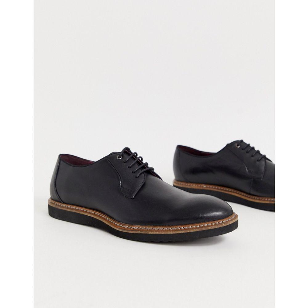 ランブレッタ Lambretta メンズ シューズ・靴 革靴・ビジネスシューズ【lace up leather shoe with chunky sole】Black