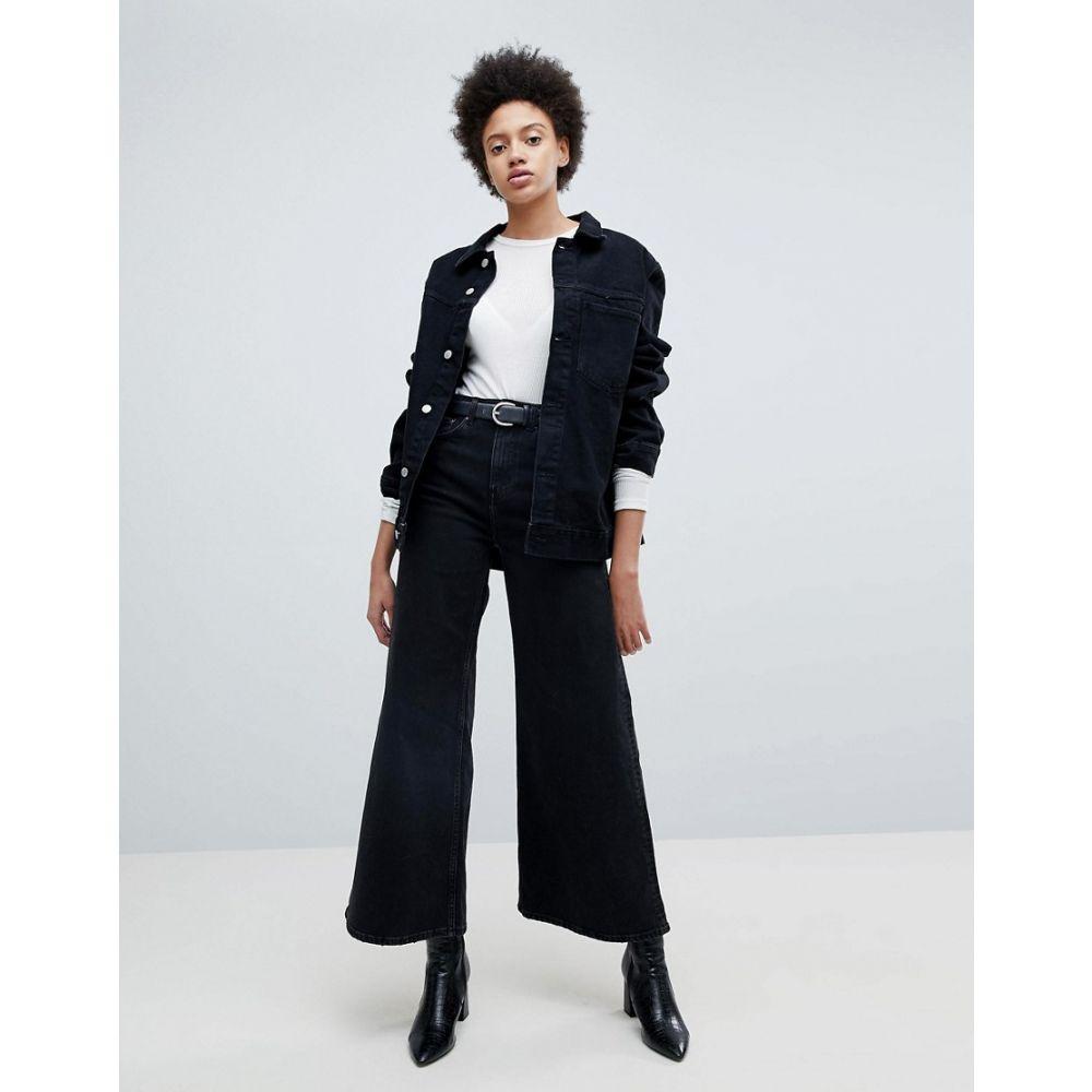 ウィークデイ レディース ボトムス・パンツ ジーンズ・デニム【Ace A-line Wide Leg Jeans】Washed black