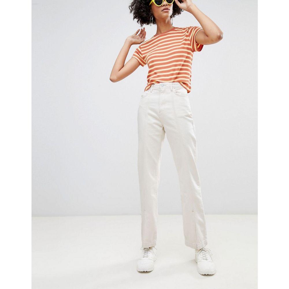 ウィークデイ Weekday レディース ボトムス・パンツ ジーンズ・デニム【Limited Collection Mom Jeans With Front Seam And Slit Hem in Organic Cotton】Ecru