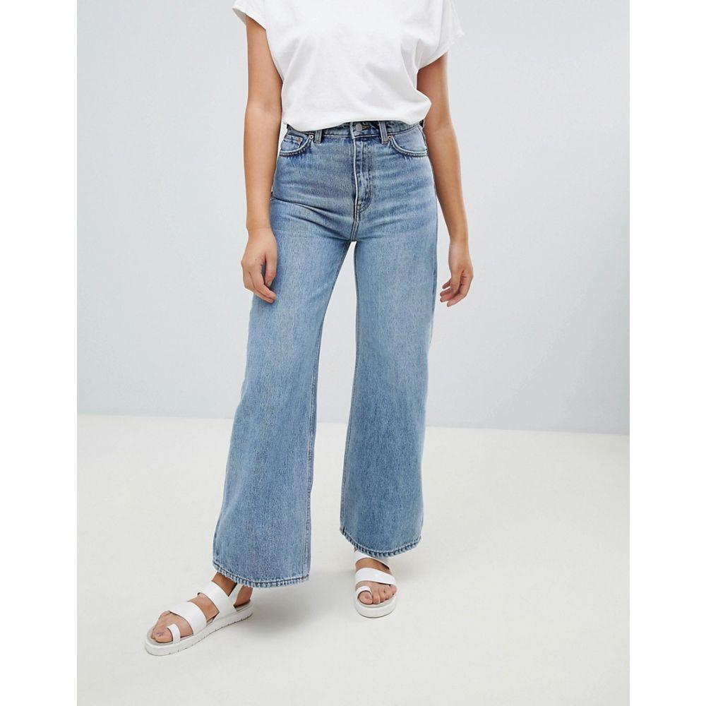 ウィークデイ Weekday レディース ボトムス・パンツ ジーンズ・デニム【Wide Leg Ace Jean】Blue