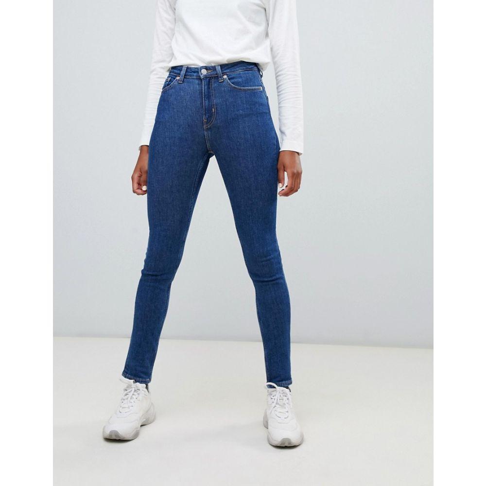 ウィークデイ Weekday レディース ボトムス・パンツ ジーンズ・デニム【Thursday High Waist Skinny Jeans】Win blue