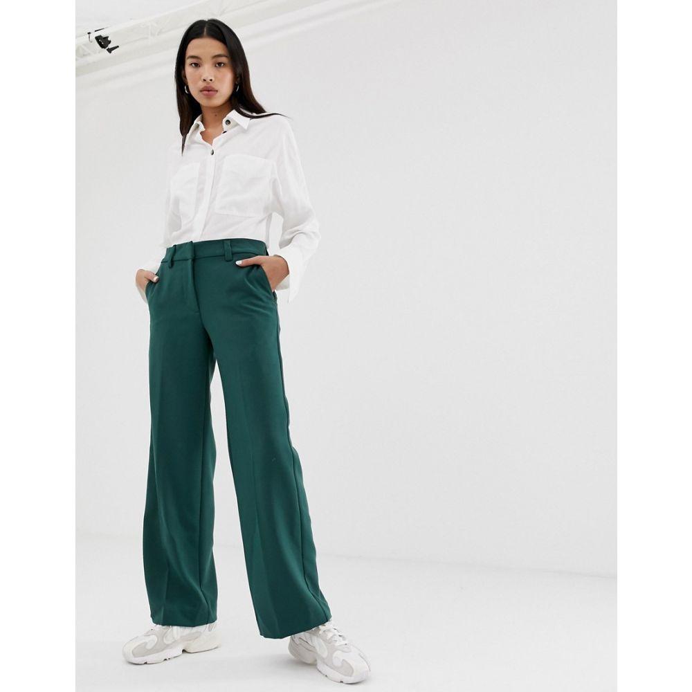 ウィークデイ Weekday レディース ボトムス・パンツ【smart trousers in dark green】Dark green