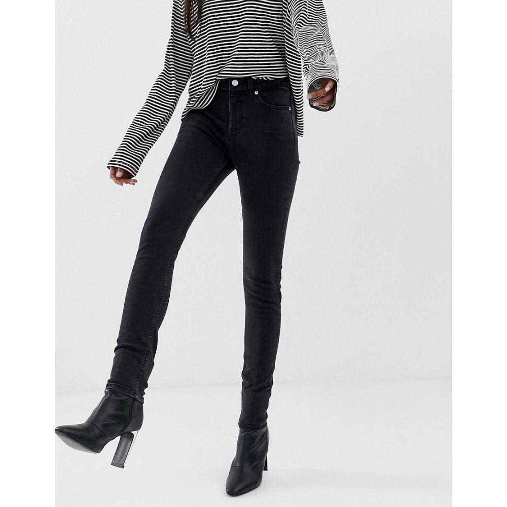 ウィークデイ Weekday レディース ボトムス・パンツ ジーンズ・デニム【Thursday high waisted skinny jeans in black】Tuned black