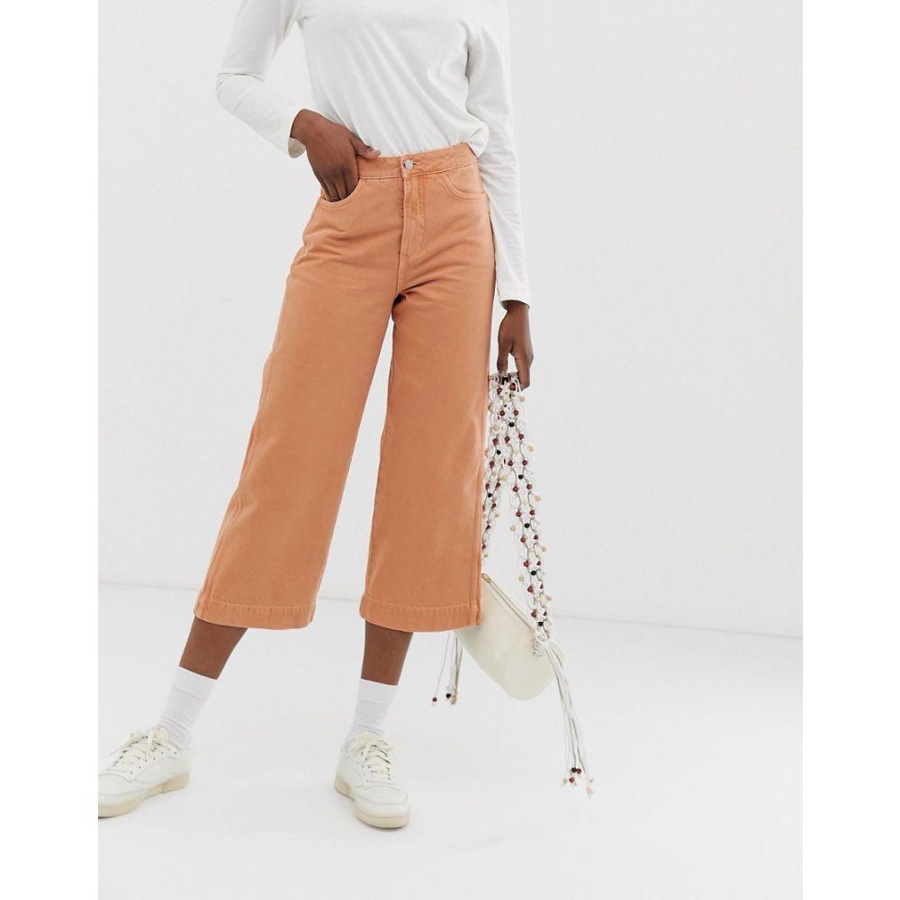 ウィークデイ Weekday レディース ボトムス・パンツ ジーンズ・デニム【denim wide leg jeans in tangerine co ord】Tangerine