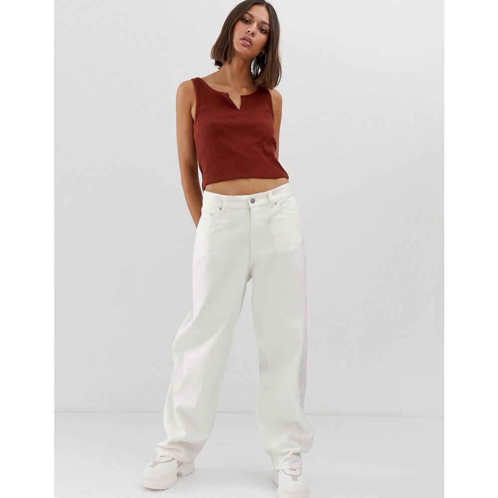 ウィークデイ Weekday レディース ボトムス・パンツ ジーンズ・デニム【oversized low rise wide leg jeans in white】White