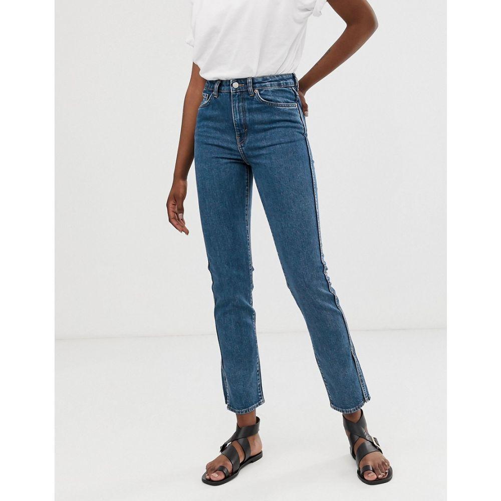 ウィークデイ Weekday レディース ボトムス・パンツ ジーンズ・デニム【stretch straight fit jeans with split at sides in blue】Standard