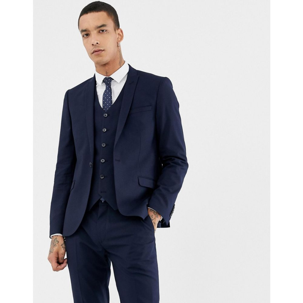 ハートアンドダガー Heart & Dagger メンズ アウター スーツ・ジャケット【skinny suit jacket】Navy