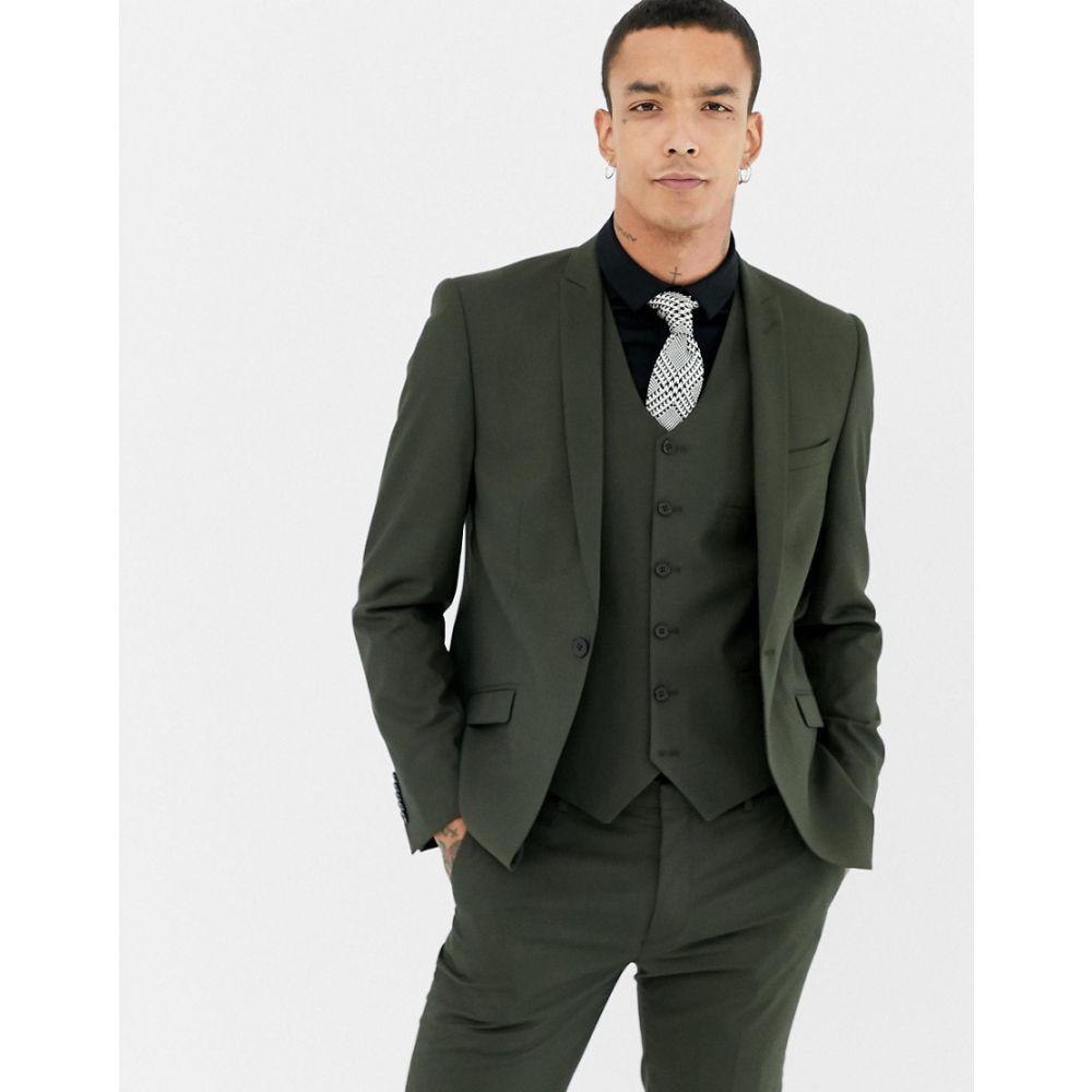 ハートアンドダガー Heart & Dagger メンズ アウター スーツ・ジャケット【skinny suit jacket】Khaki