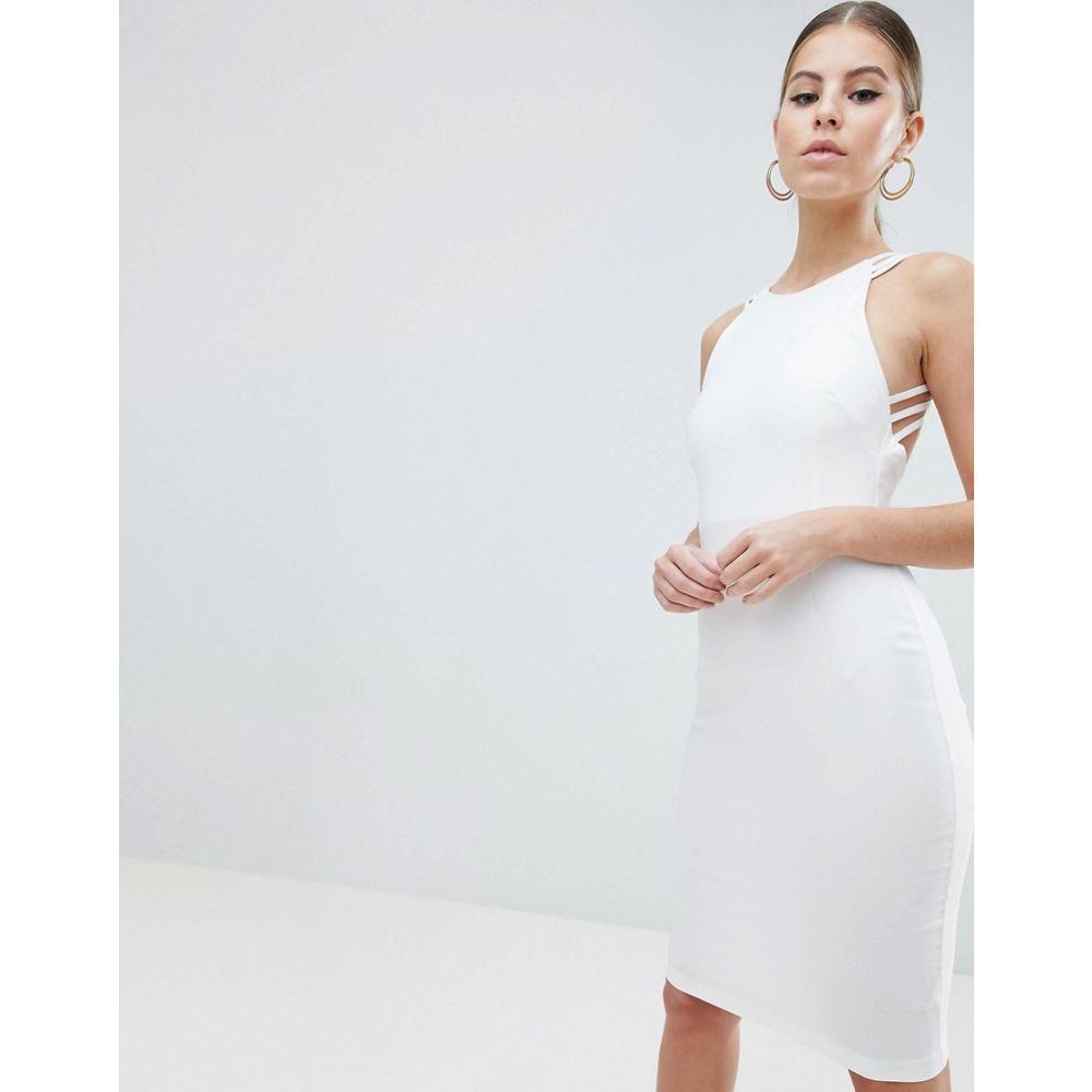 ヴェスパー Vesper レディース ワンピース・ドレス ワンピース【Strappy Back Midi Dress】White
