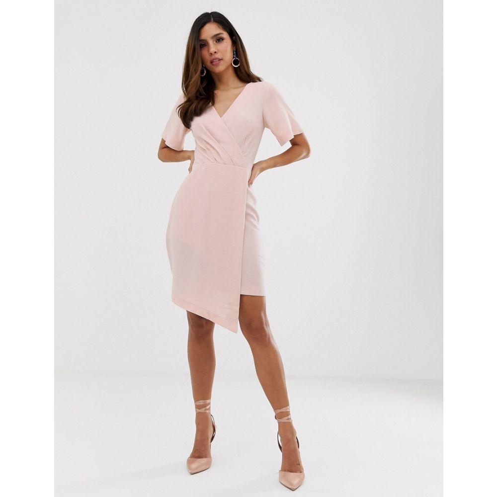 クローゼットロンドン Closet London レディース ワンピース・ドレス ワンピース【Closet pleated assymetric dress】Pale pink
