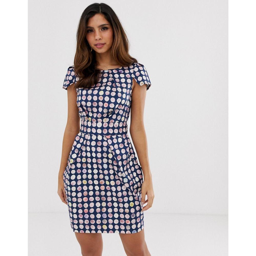 クローゼットロンドン Closet London レディース ワンピース・ドレス ワンピース【Closet gingham pencil dress】Navy