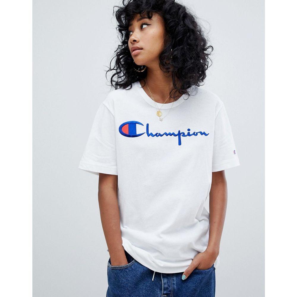 チャンピオン Champion レディース トップス Tシャツ【oversized t-shirt with front logo】White