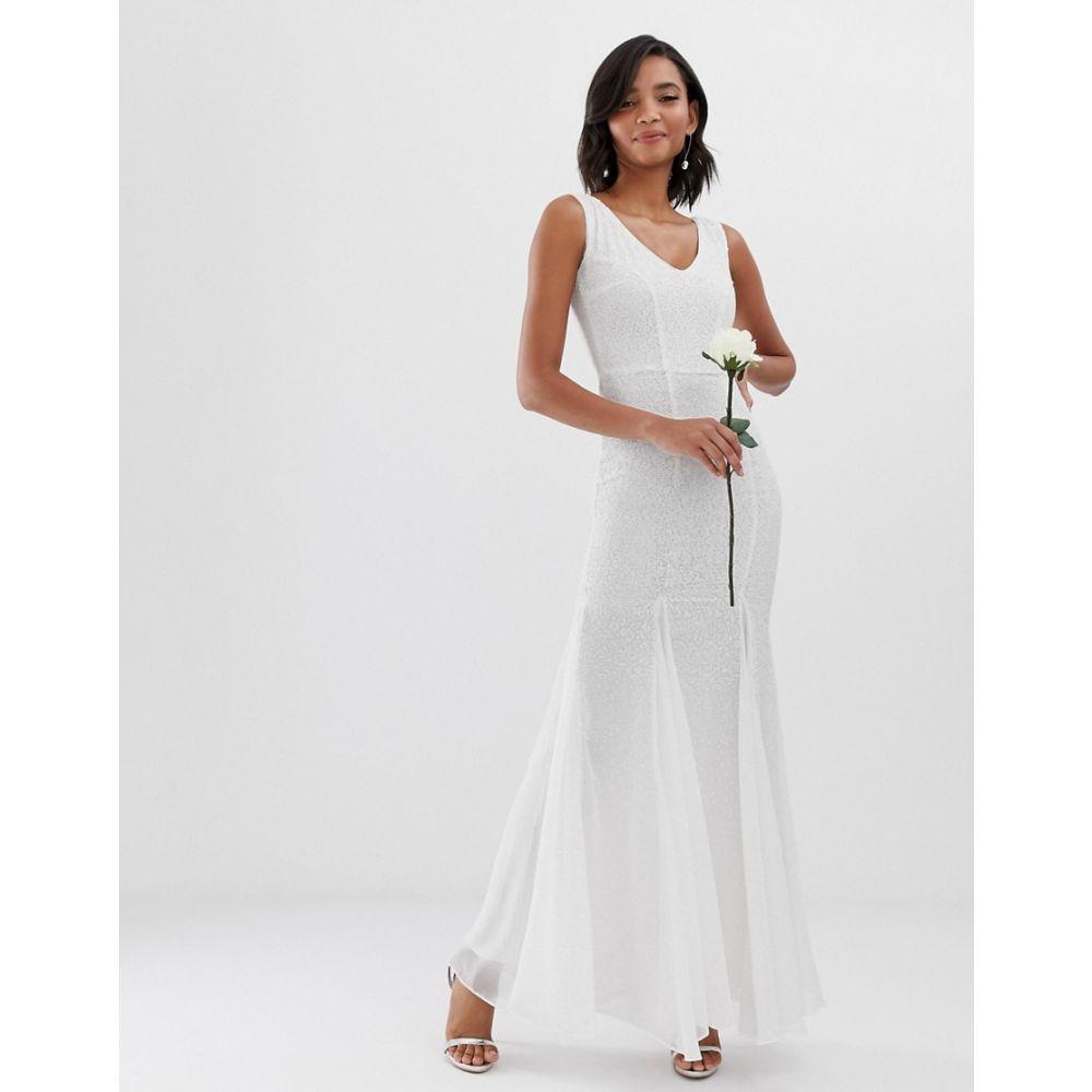 シティゴッデス City Goddess レディース ワンピース・ドレス ワンピース【bridal fishtail maxi dress】White