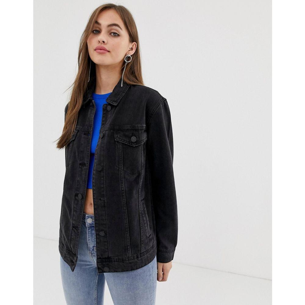 ノイズィーメイ Noisy May レディース アウター ジャケット【oversized denim jacket in black】Black