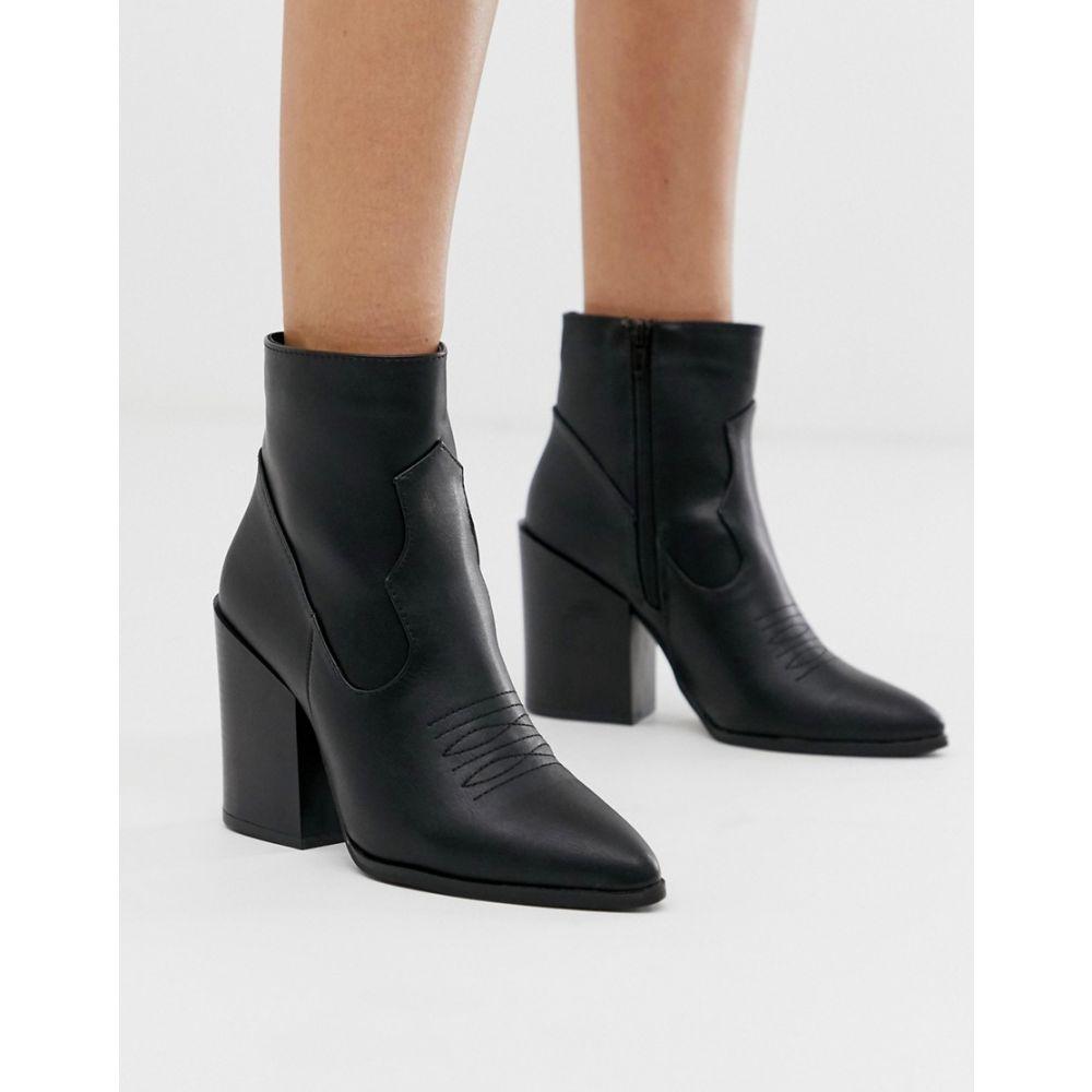 トリュフコレクション Truffle Collection レディース シューズ・靴 ブーツ【heeled western boots in black】Black pu
