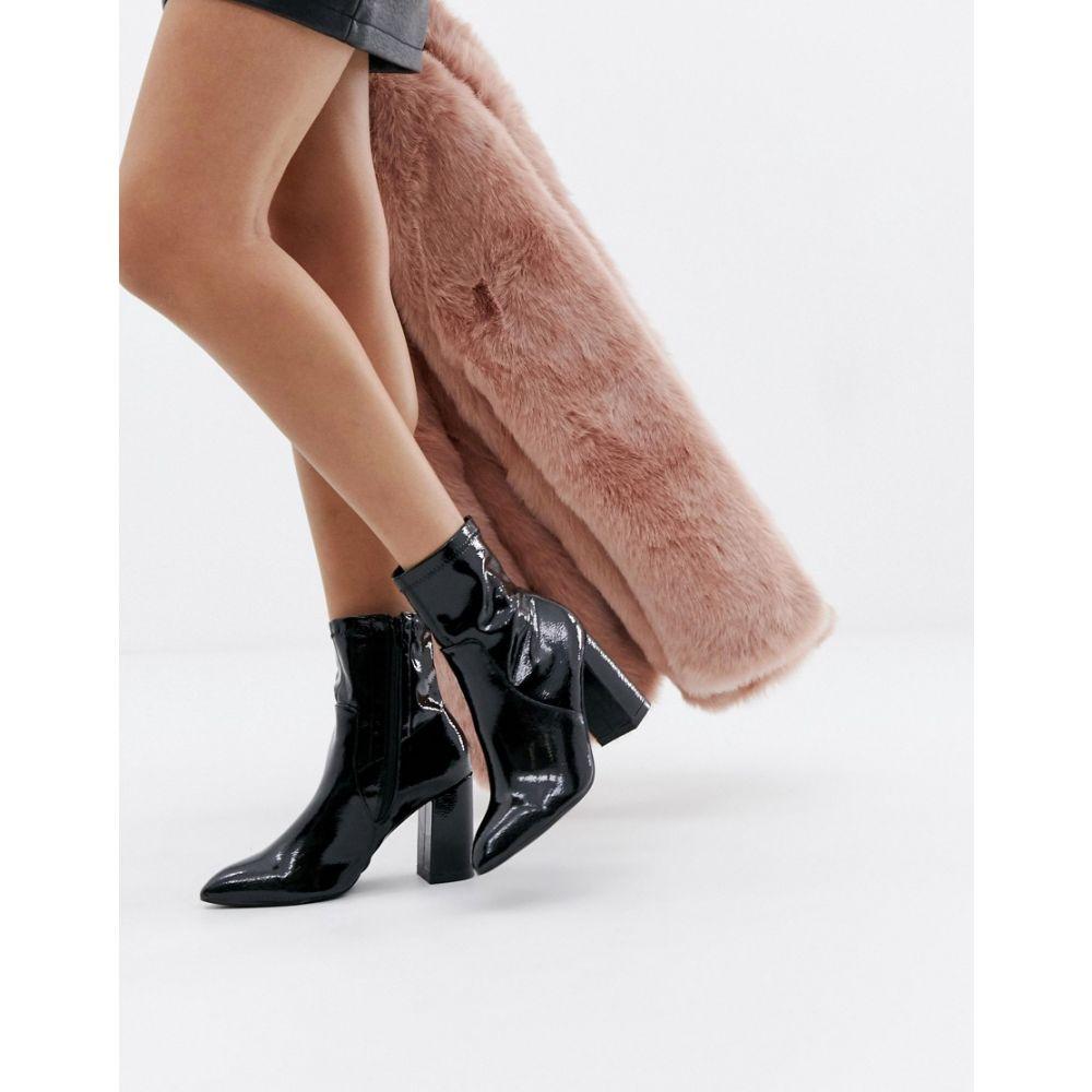 パブリックディザイア Public Desire レディース シューズ・靴 ブーツ【Raya black patent sock boots】Black patent