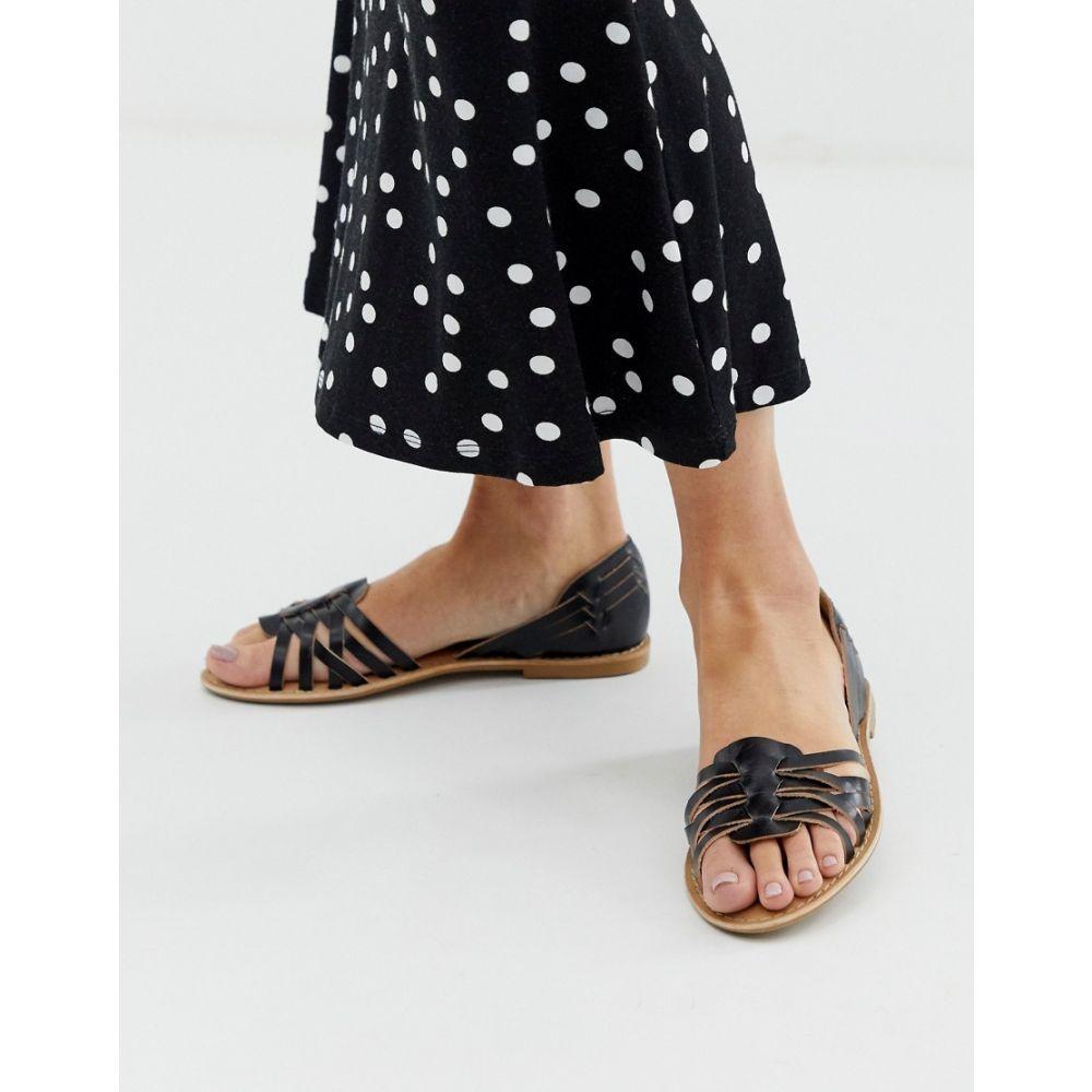 パークレーン Park Lane レディース シューズ・靴【Leather Summer Shoes】Black