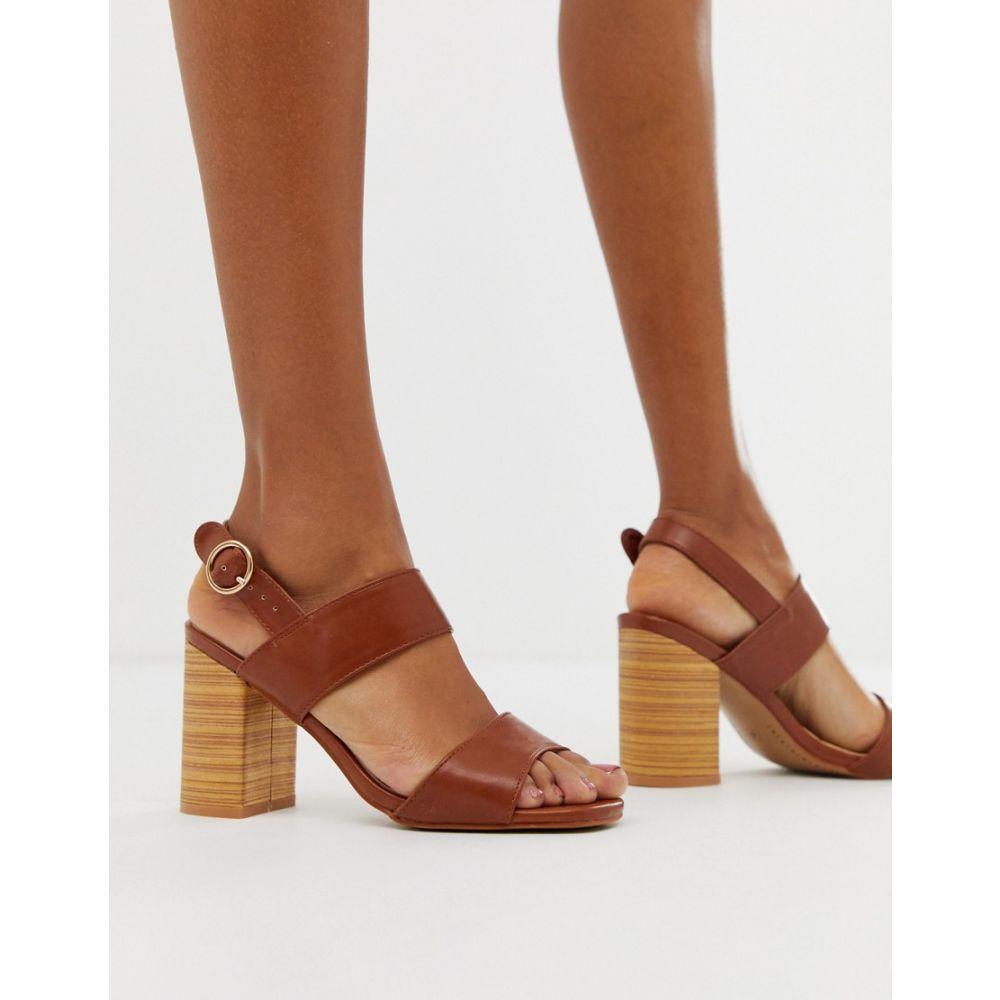 パークレーン Park Lane レディース シューズ・靴 サンダル・ミュール【casual block heeled sandals】Tan