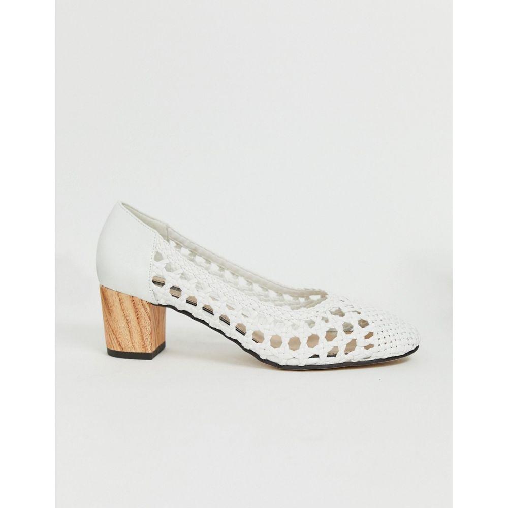 ミス セルフリッジ Miss Selfridge レディース シューズ・靴 ヒール【woven heeled shoes in white】White