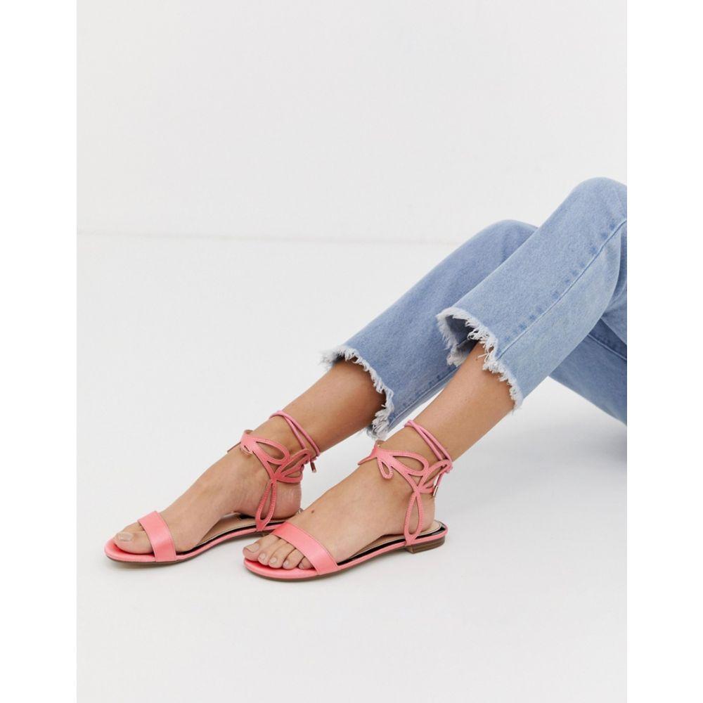 ミス セルフリッジ Miss Selfridge レディース シューズ・靴 サンダル・ミュール【flat sandals with ankle detail in pink】Pink