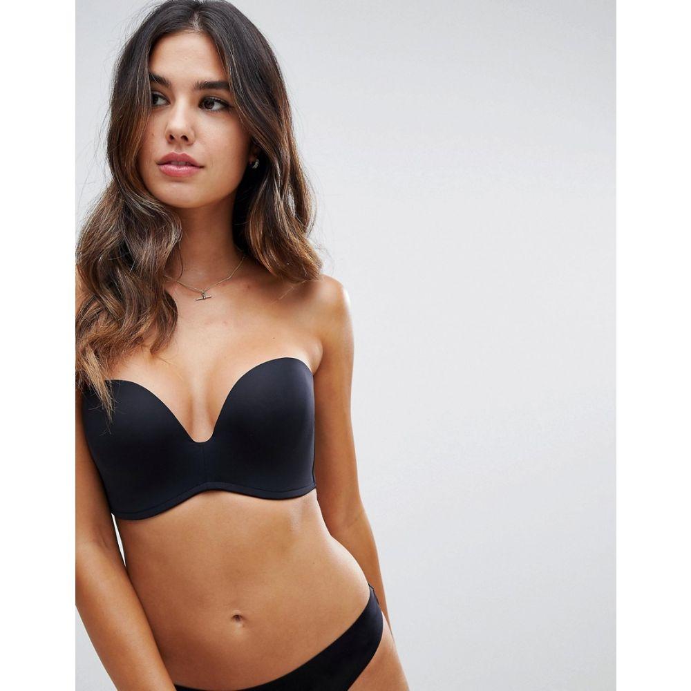 ワンダーブラ Wonderbra レディース インナー・下着 ブラジャーのみ【new ultimate strapless bra a - g cup】Black