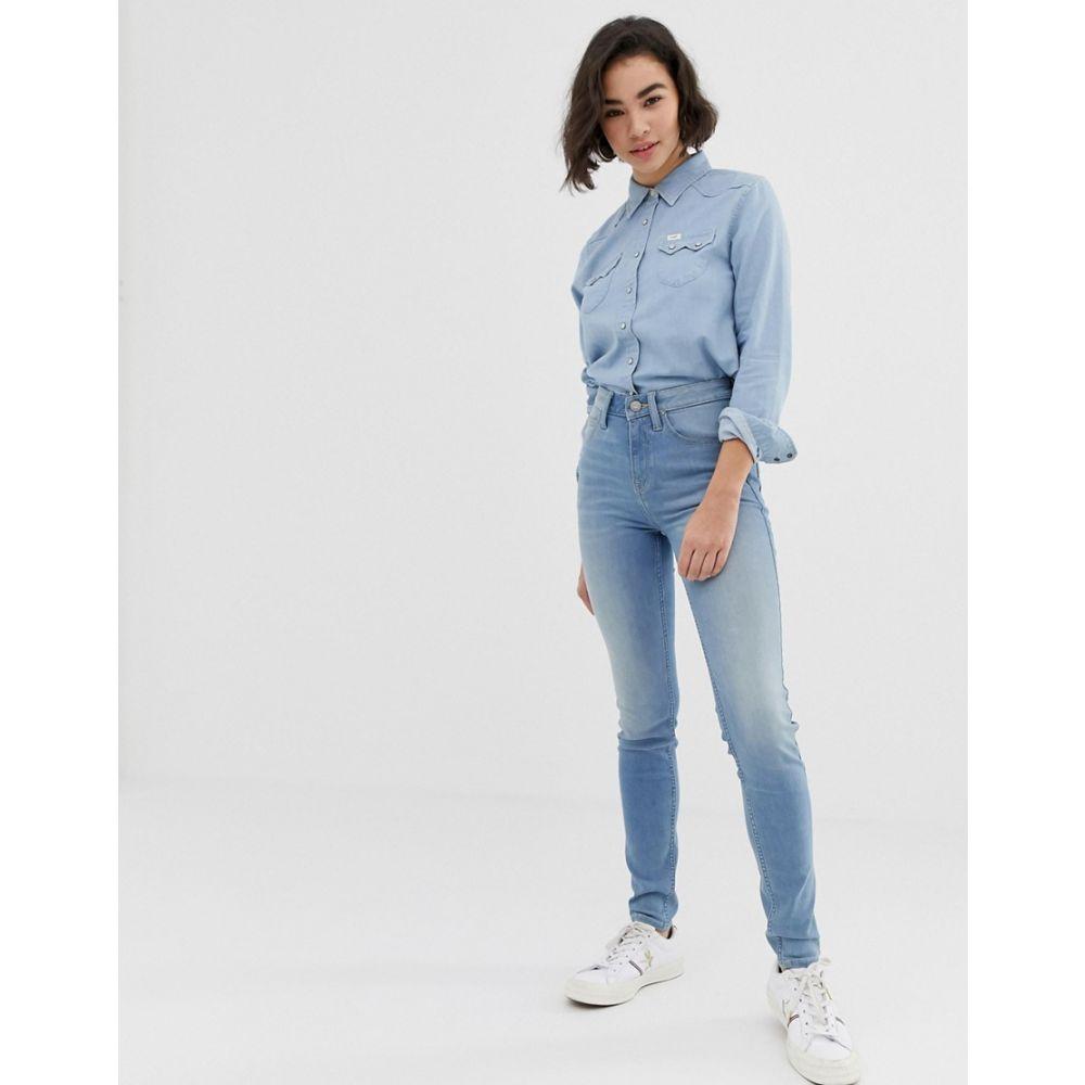 リー Lee Jeans レディース ボトムス・パンツ ジーンズ・デニム【Lee Scarlett high rise skinny jeans】Light worn
