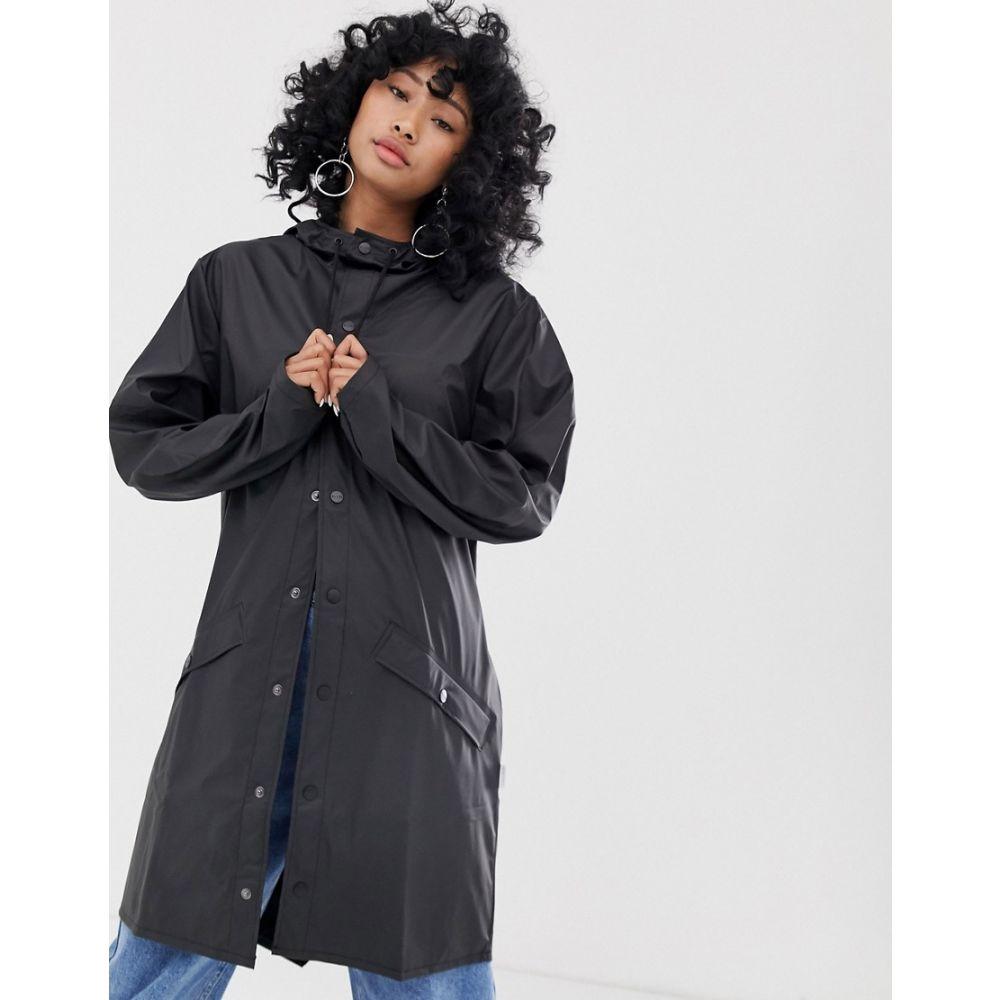 レインズ Rains レディース アウター ジャケット【long jacket】Black