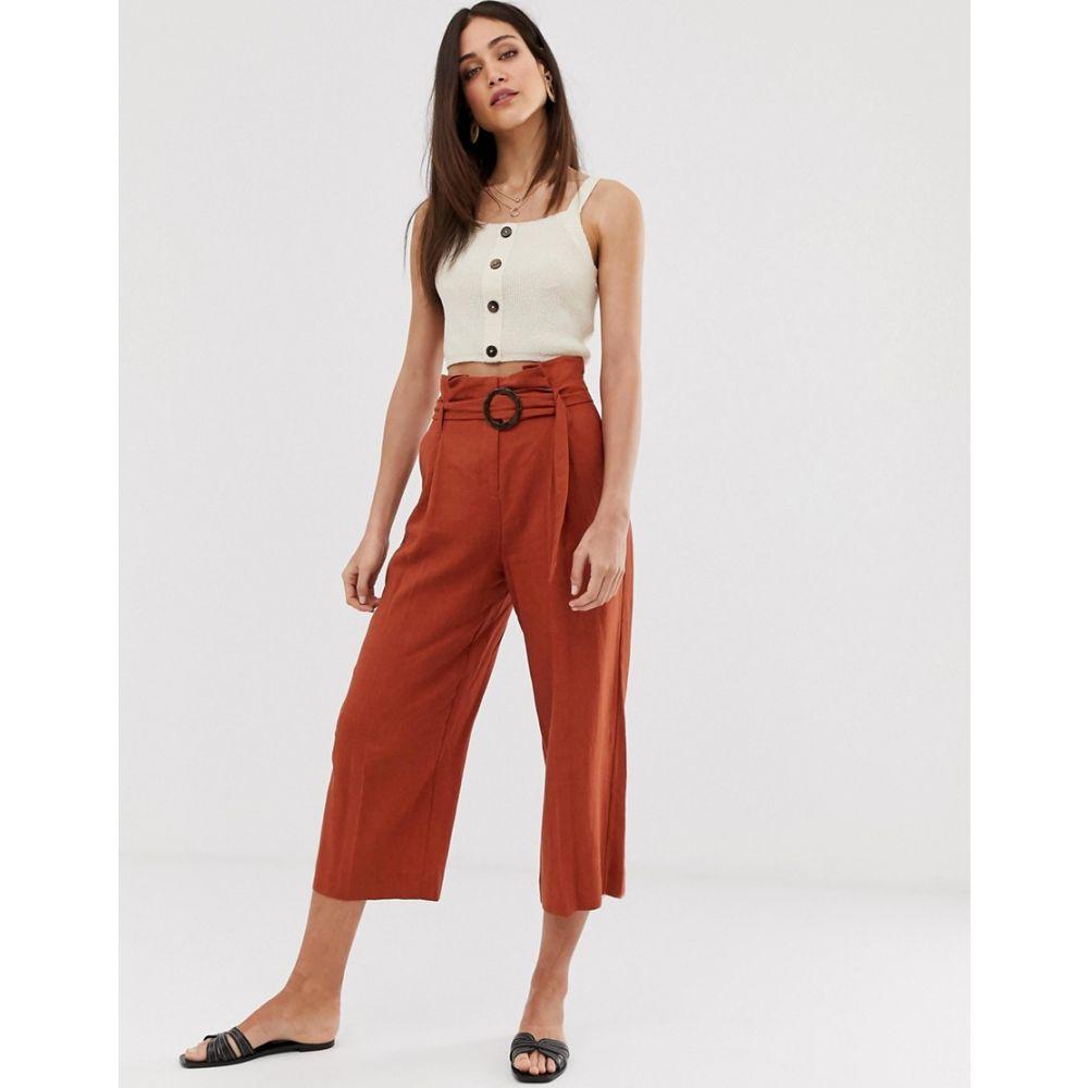 ウェアハウス Warehouse レディース ボトムス・パンツ【linen culottes in rust】Red