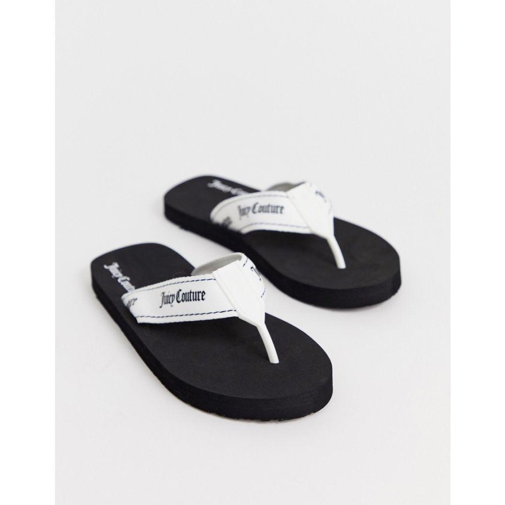 ジューシークチュール Juicy Couture レディース シューズ・靴 ビーチサンダル【flip flop】White